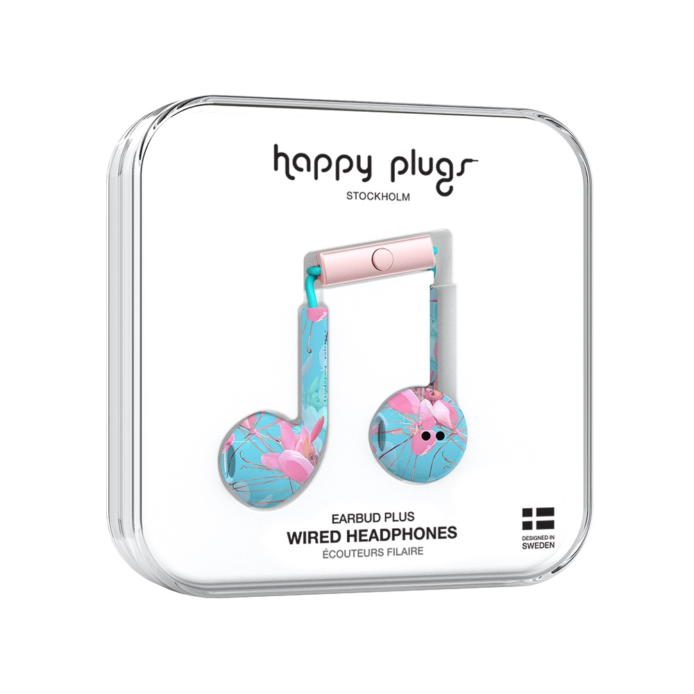 Image For Happy Plugs Earbuds Plus Botanica Exotica