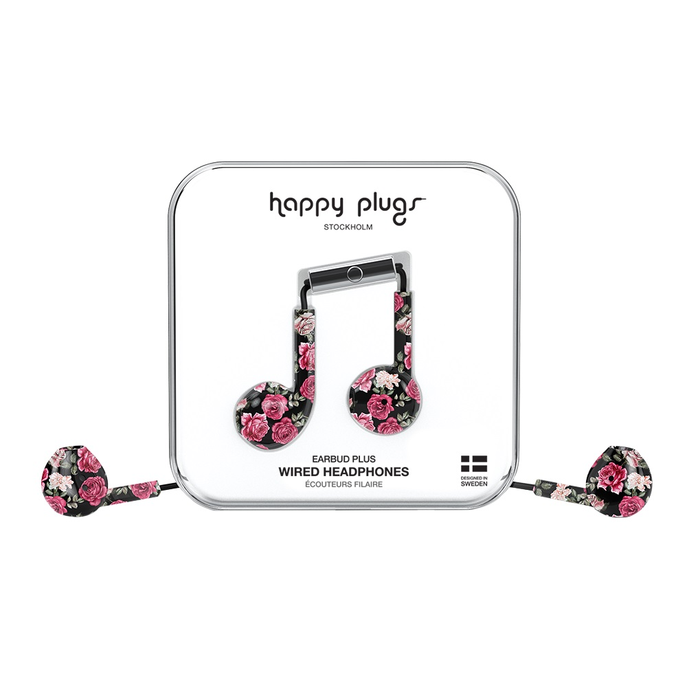 Cover Image For Happy Plugs Earbuds Plus Vintage Roses