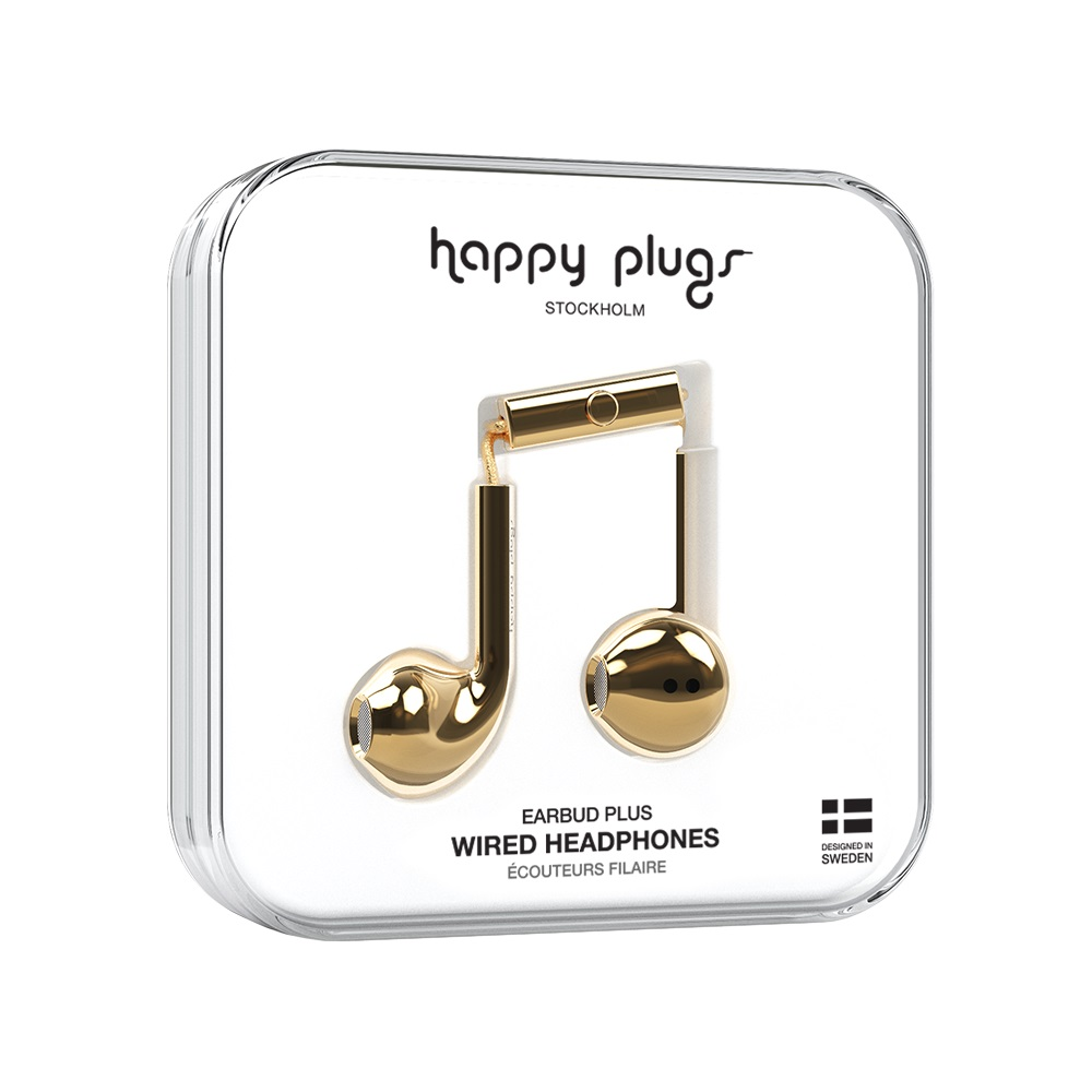 Image For Happy Plugs Earbuds Plus Gold