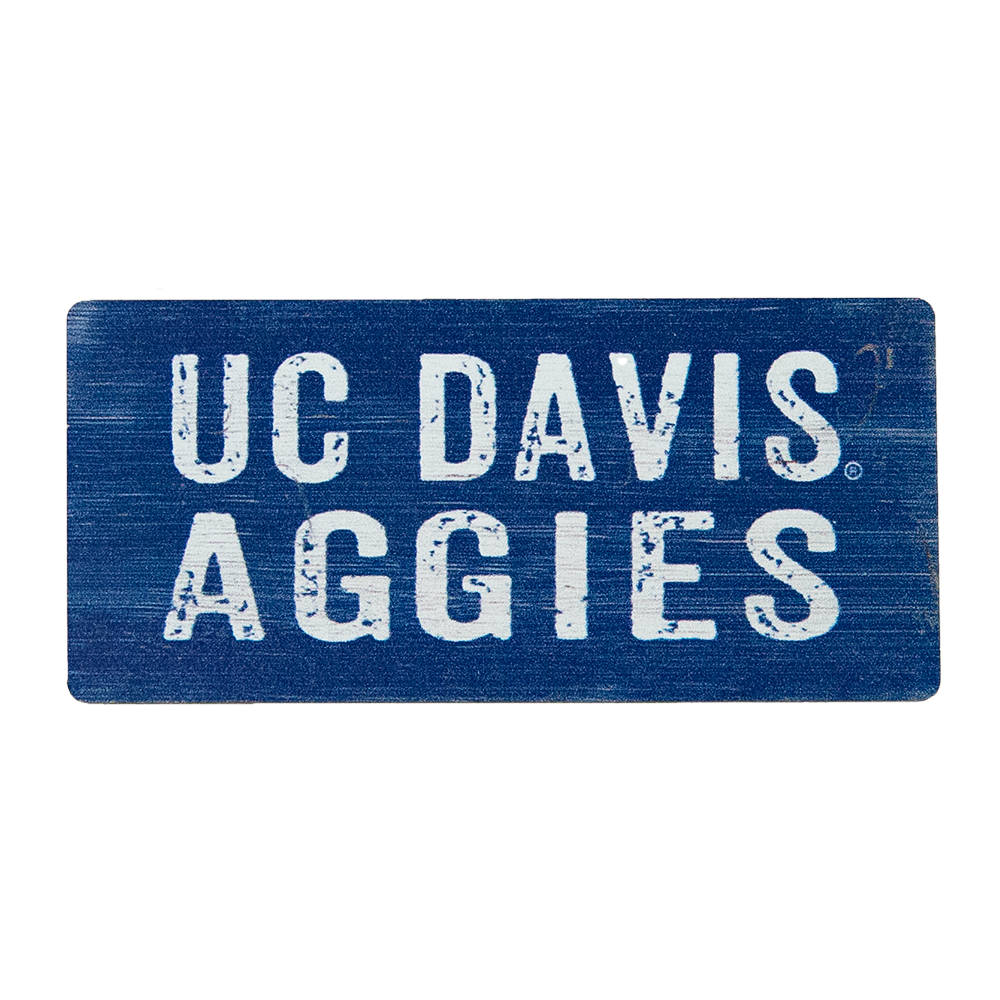 Image For UC Davis Aggies Wood Magnet