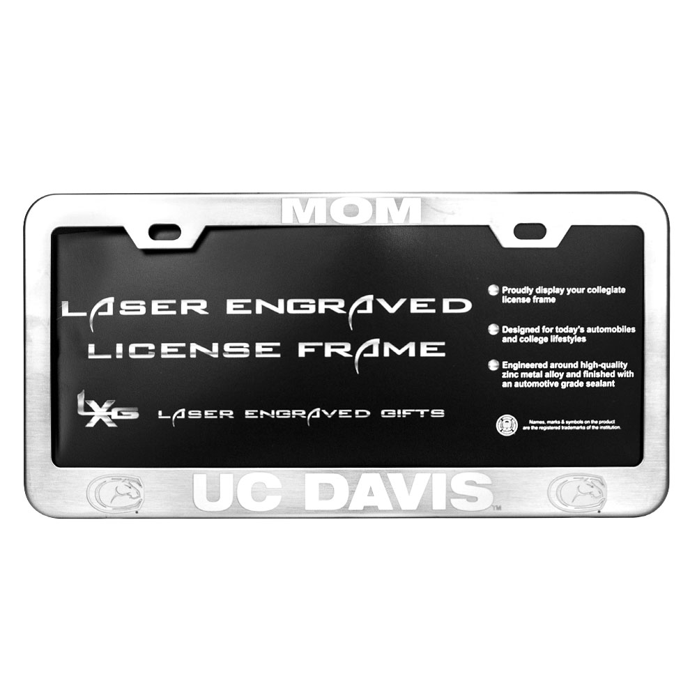 Image For LXG UC Davis Mom License Plate Frame