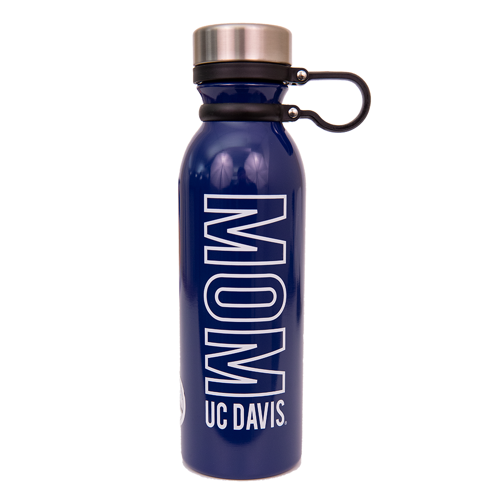 Image For Water Bottle Aluminum Mom UC Davis w/Heart