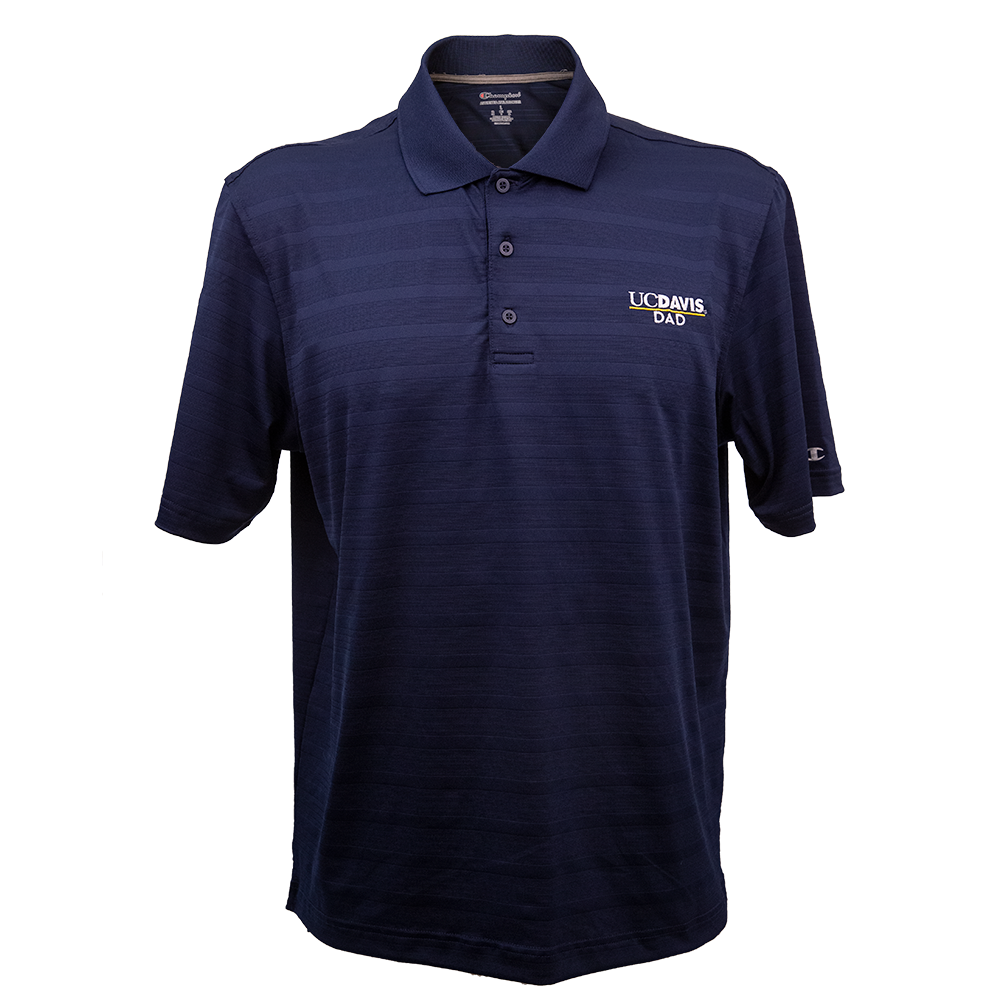 Image For Champion® Athleticwear UC Davis Dad Subdued Stripped Polo