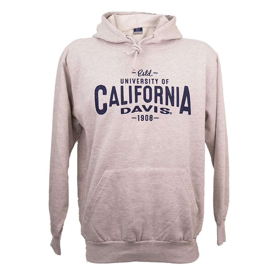 Image For MV® Sport UC Davis Hooded Pull Over Sweatshirt Ash