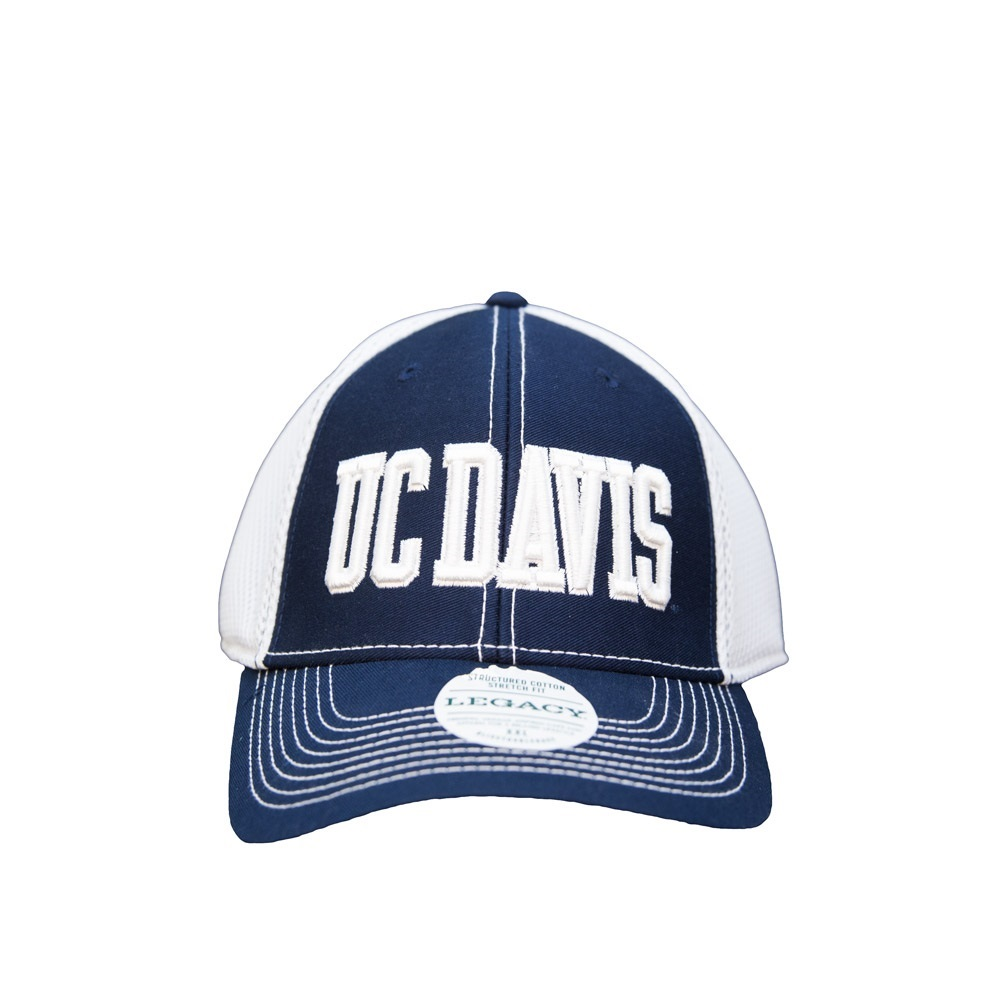 Image For Legacy92 UC Davis Raised Logo Stretch Hat S/Med