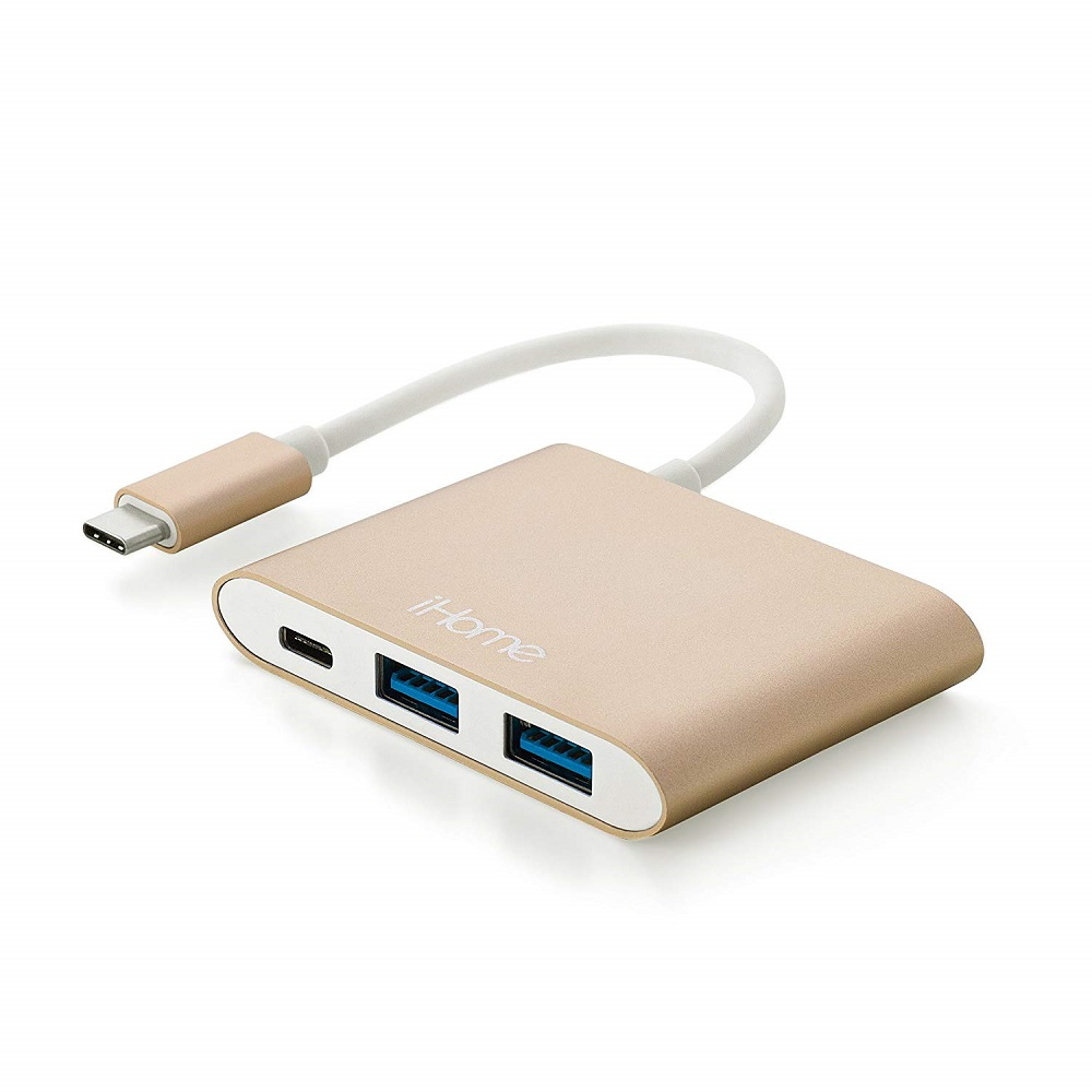 Image For iHome 5-IN-1 USB-C Charge Hub Gold