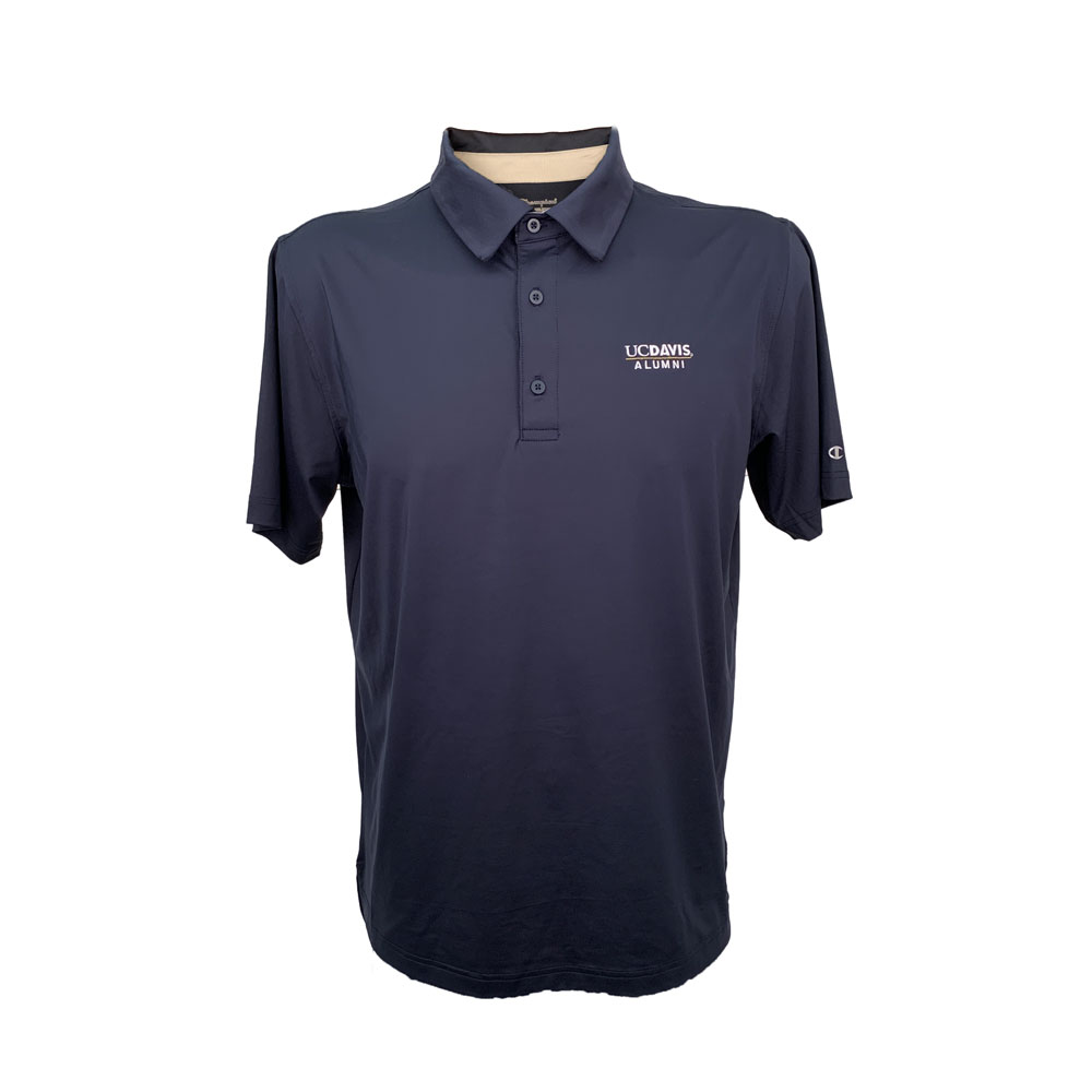 a7119d6ddde01 Champion® UC Davis Alumni Solid Navy Unisex Polo