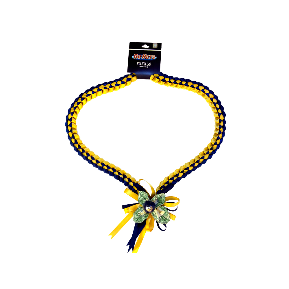 Image For UC Davis Fili-Fili Money Ribbon Lei
