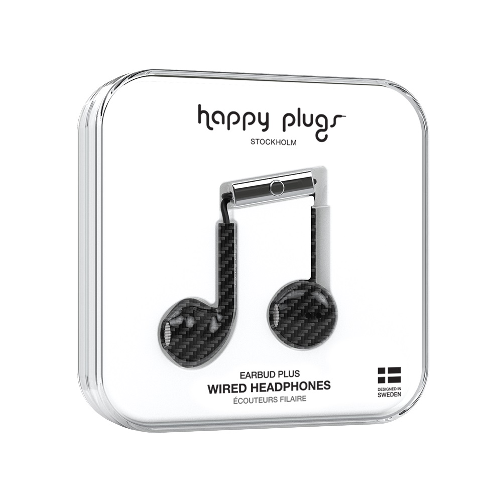 Image For Happy Plugs Earbuds Plus Carbon Fiber