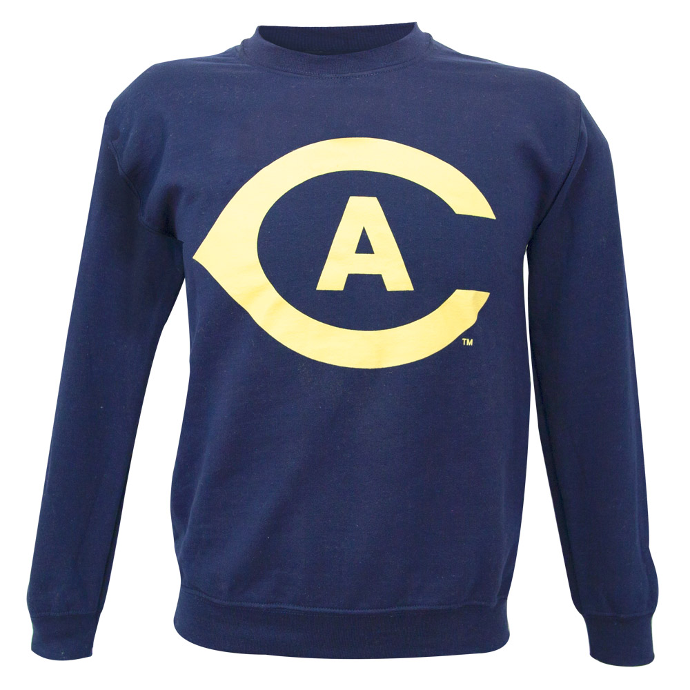 Image For MV®Sport CA Athletic Long Sleeve Crew Sweatshirt Navy