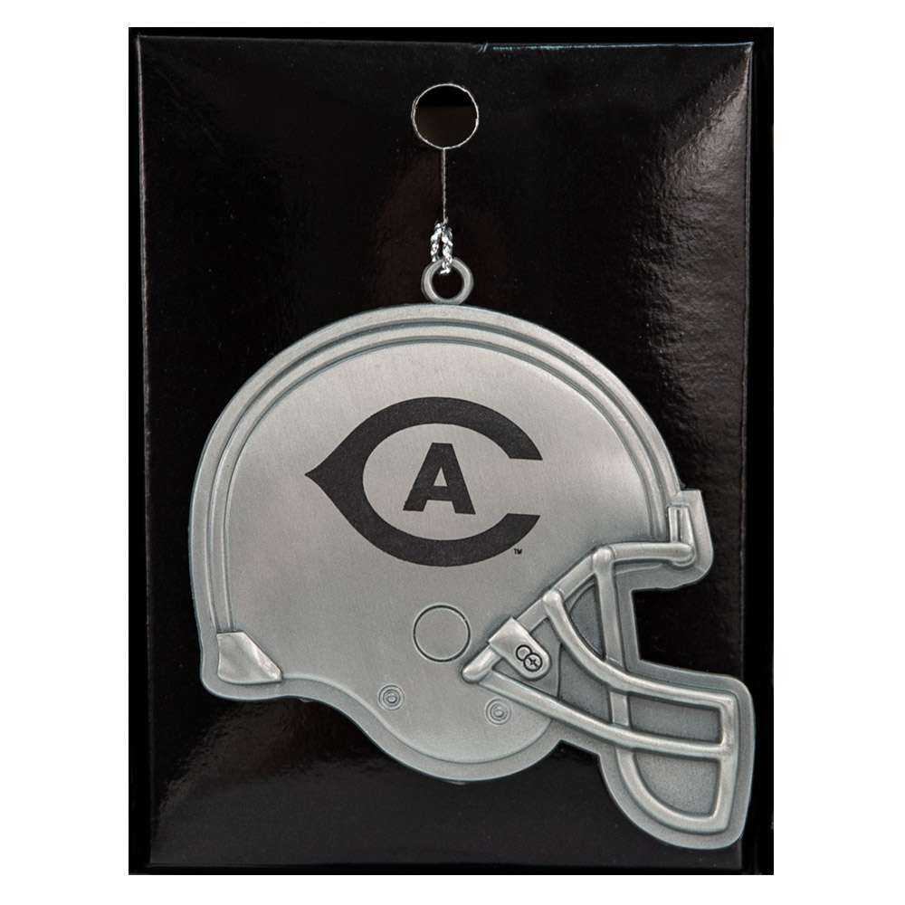 Image For LXG UC Davis Footbal Helmet Holiday Ornament