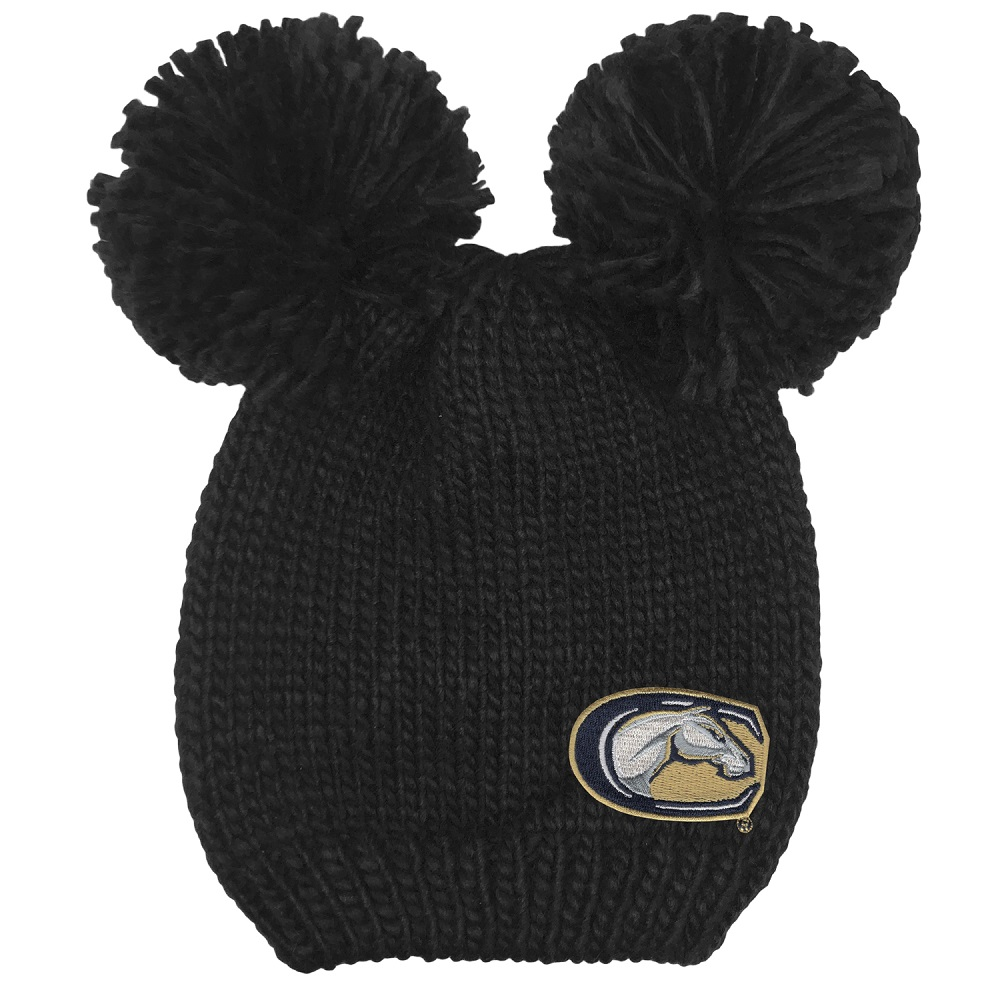 Image For Logofit™ UC Davis Dual Pom Knitted Beanie