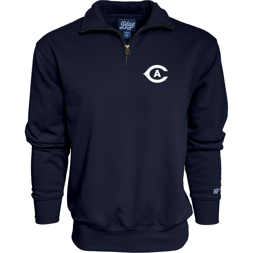Image For Blue 84 UC Davis Athletic Logo 1/4 Zip Sweatshirt Navy