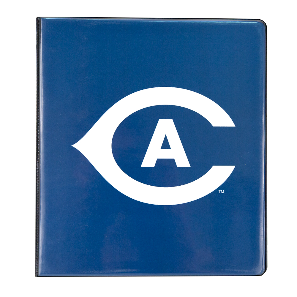 Image For UC Davis Athletic Logo White 3-Ring Binder 1""