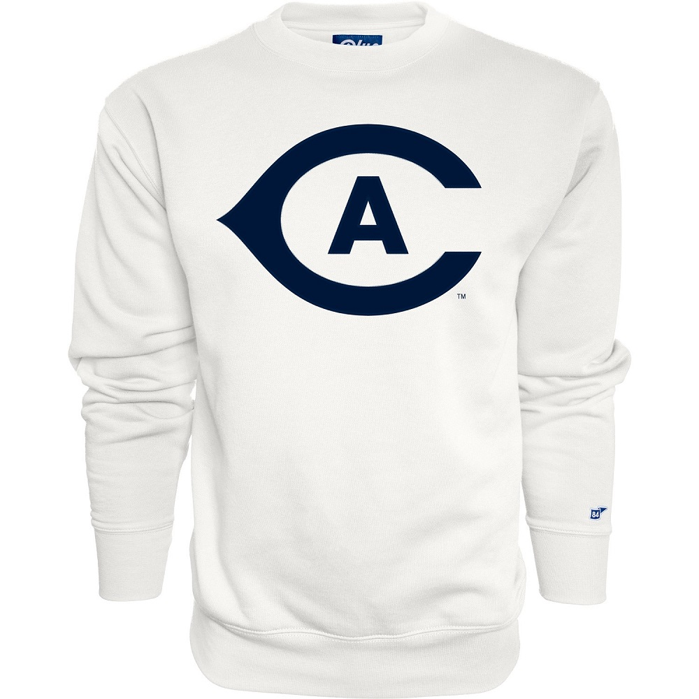 Image For Blue 84 UC Davis Navy Embroidered Athletic Logo Crew Neck