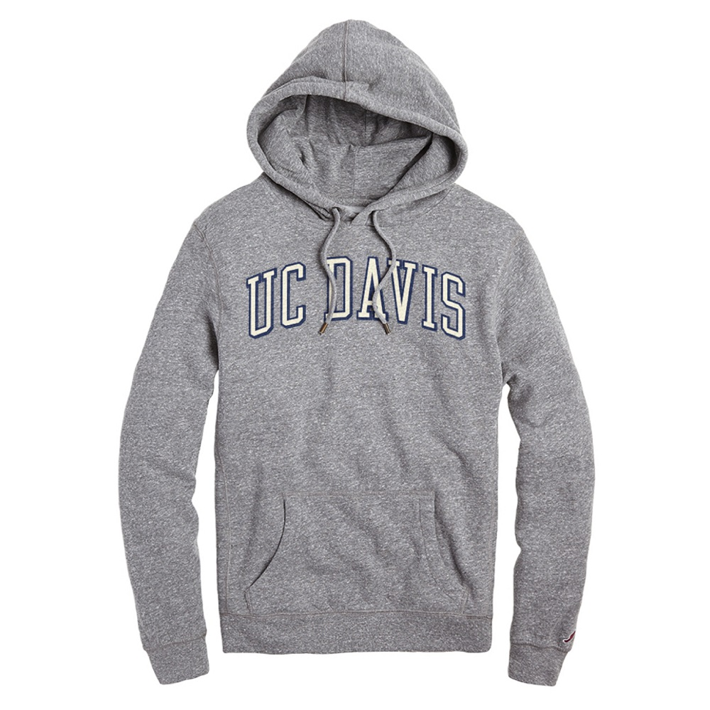 Image For League 91 UC Davis Arched Hooded Sweatshirt Heather