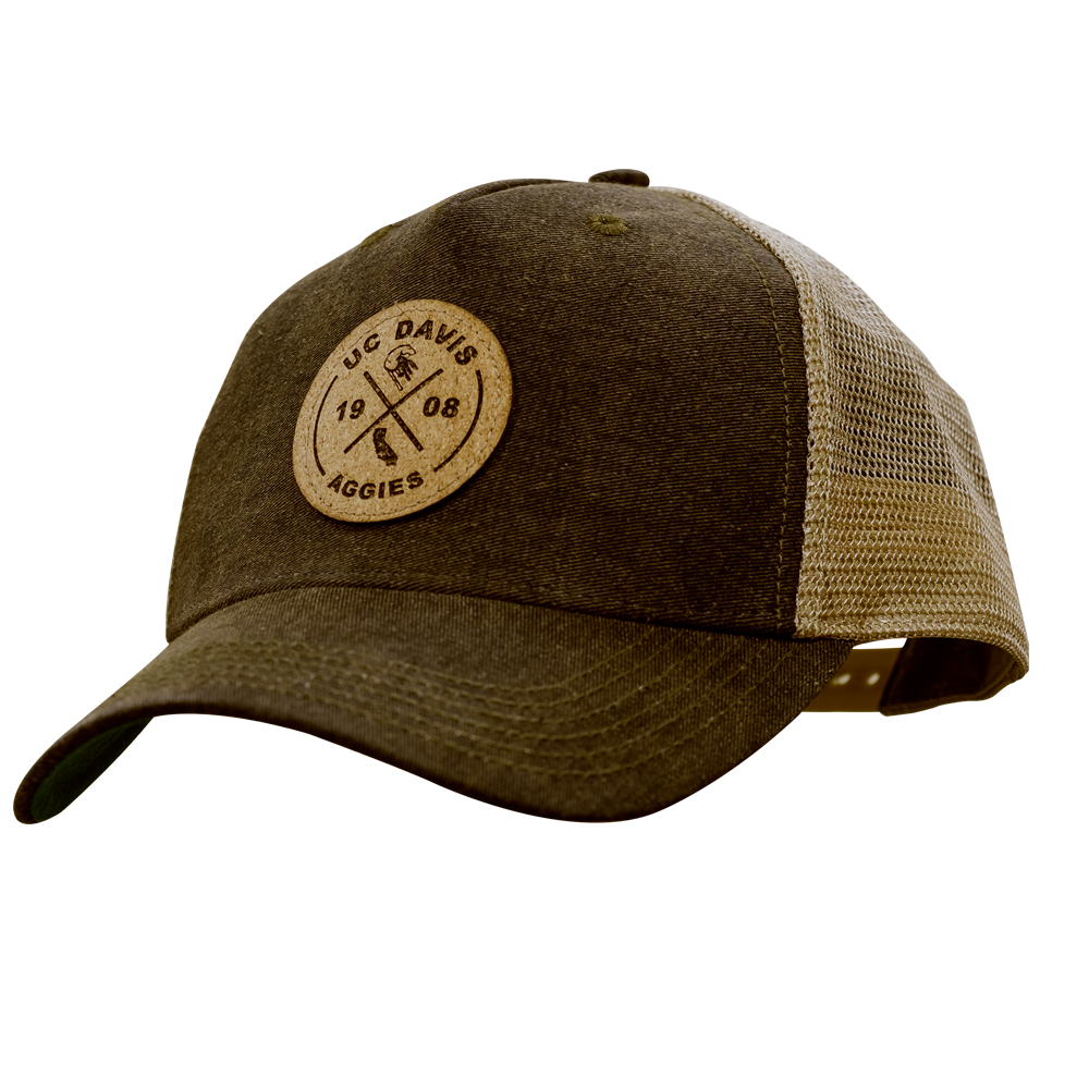 Legacy UC Davis Leather Patch Truckers Hat