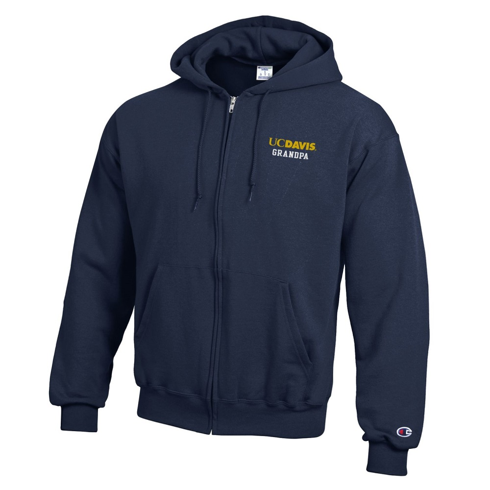 Image For Champion® Athletic UC Davis Grandpa Full Zip Sweatshirt