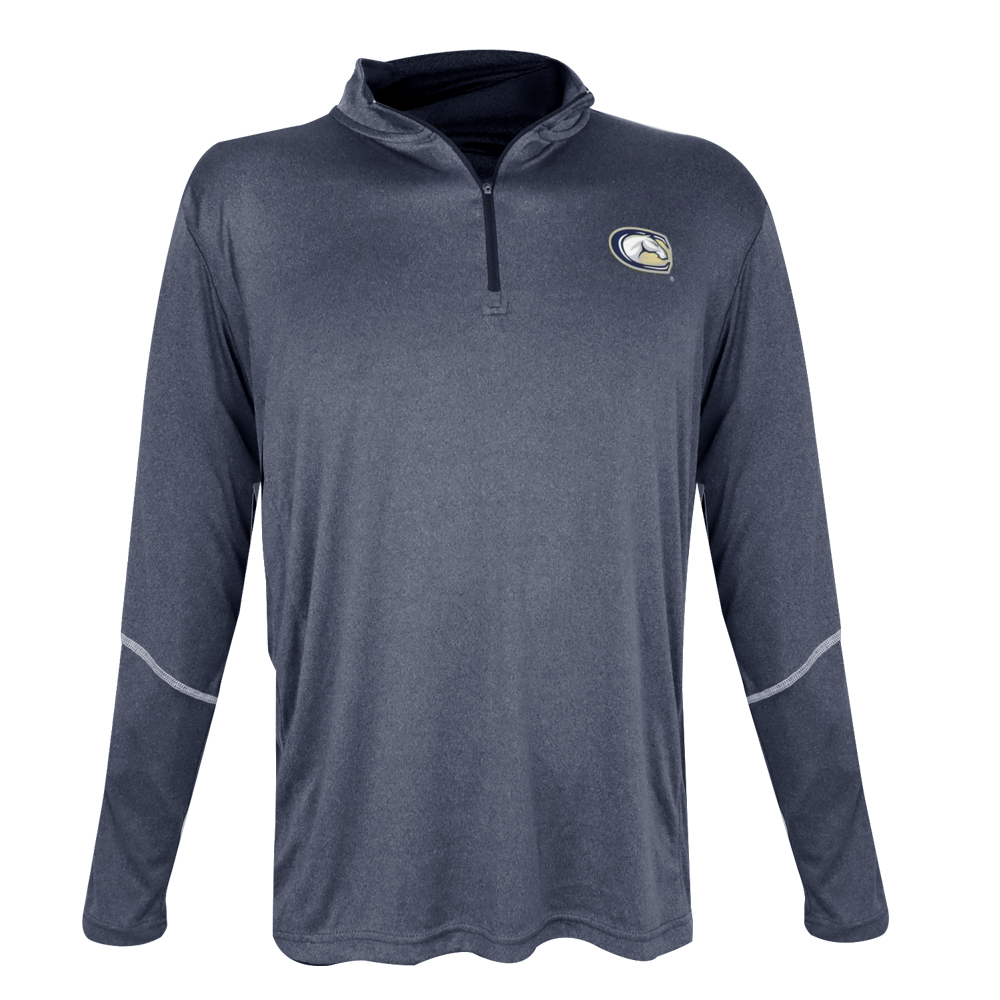 Image For Colosseum UC Davis 1/4 Zip Long Sleeve T-Shirt Navy