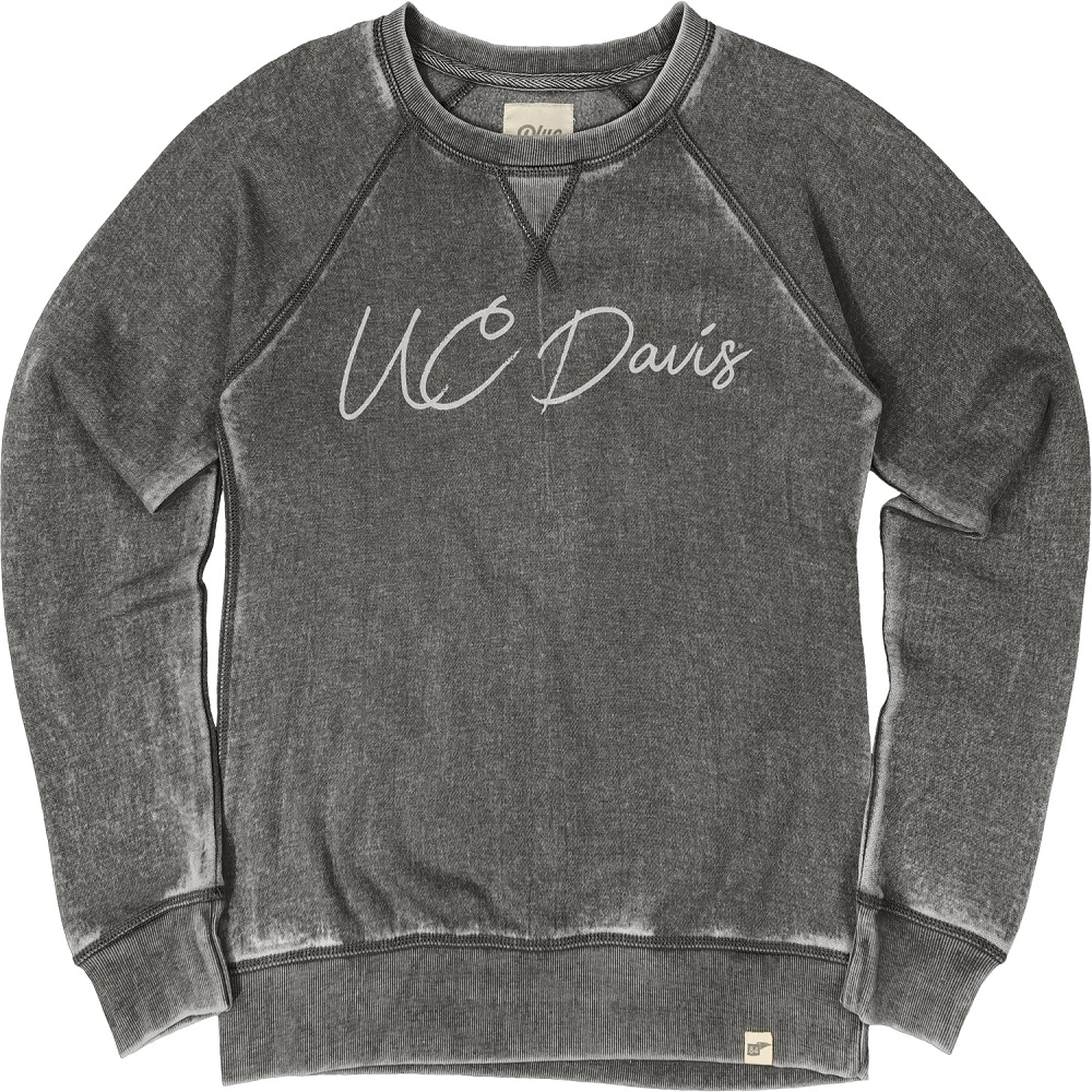 Image For Blue 84 UC Davis Women's Crewneck Sweatshirt Charcoal