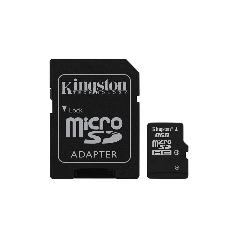 Image For Kingston® 8GB Micro SDHC Memory Card Kit
