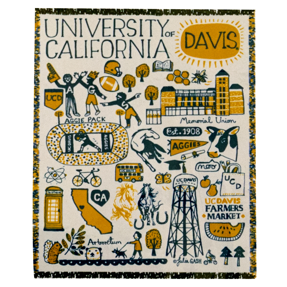 Cover Image For Julia Gash® UC Davis Throw Blanket
