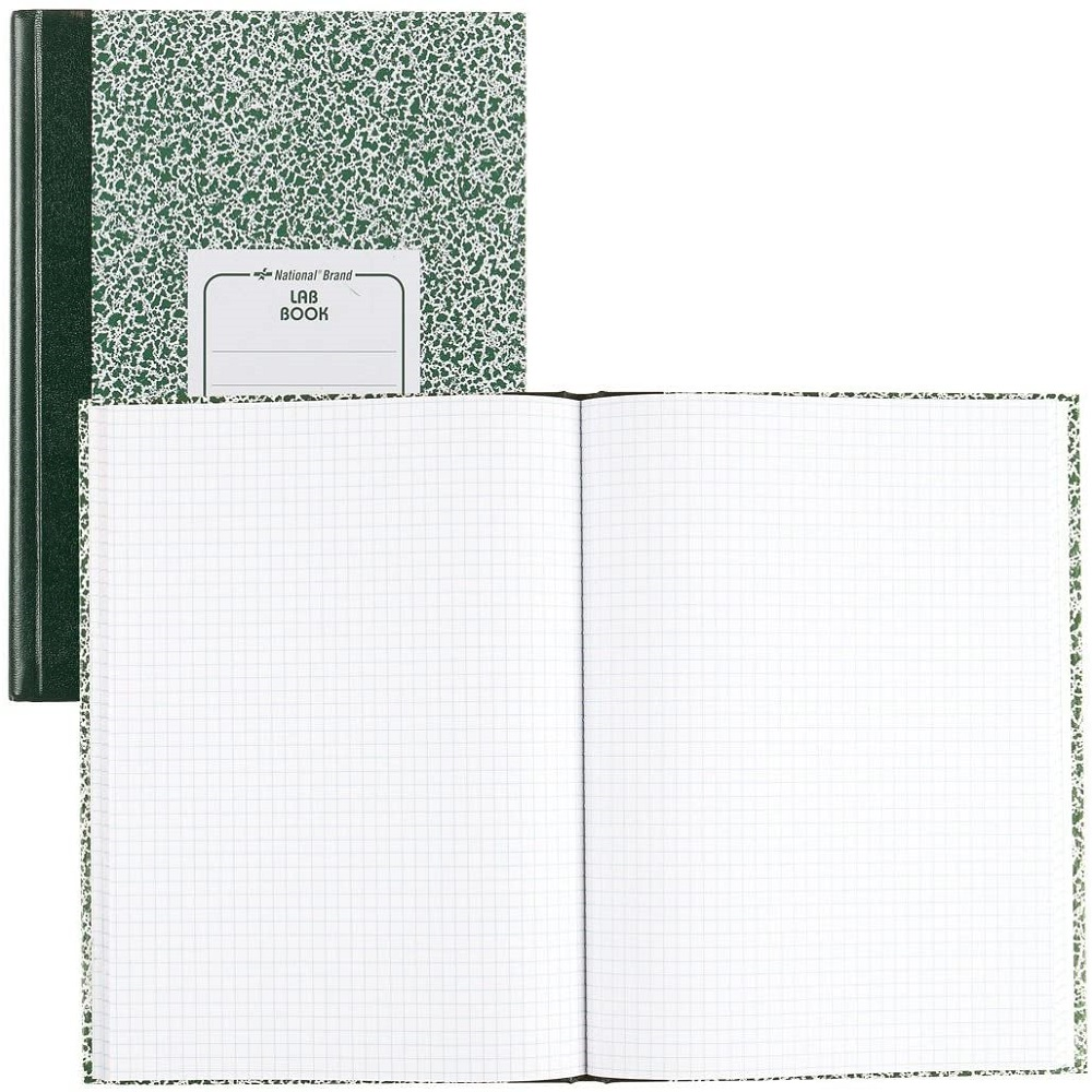 "Image For National® Brand Lab Notebook 5x5 Quad 10 1/8"" x 7 7/8"""