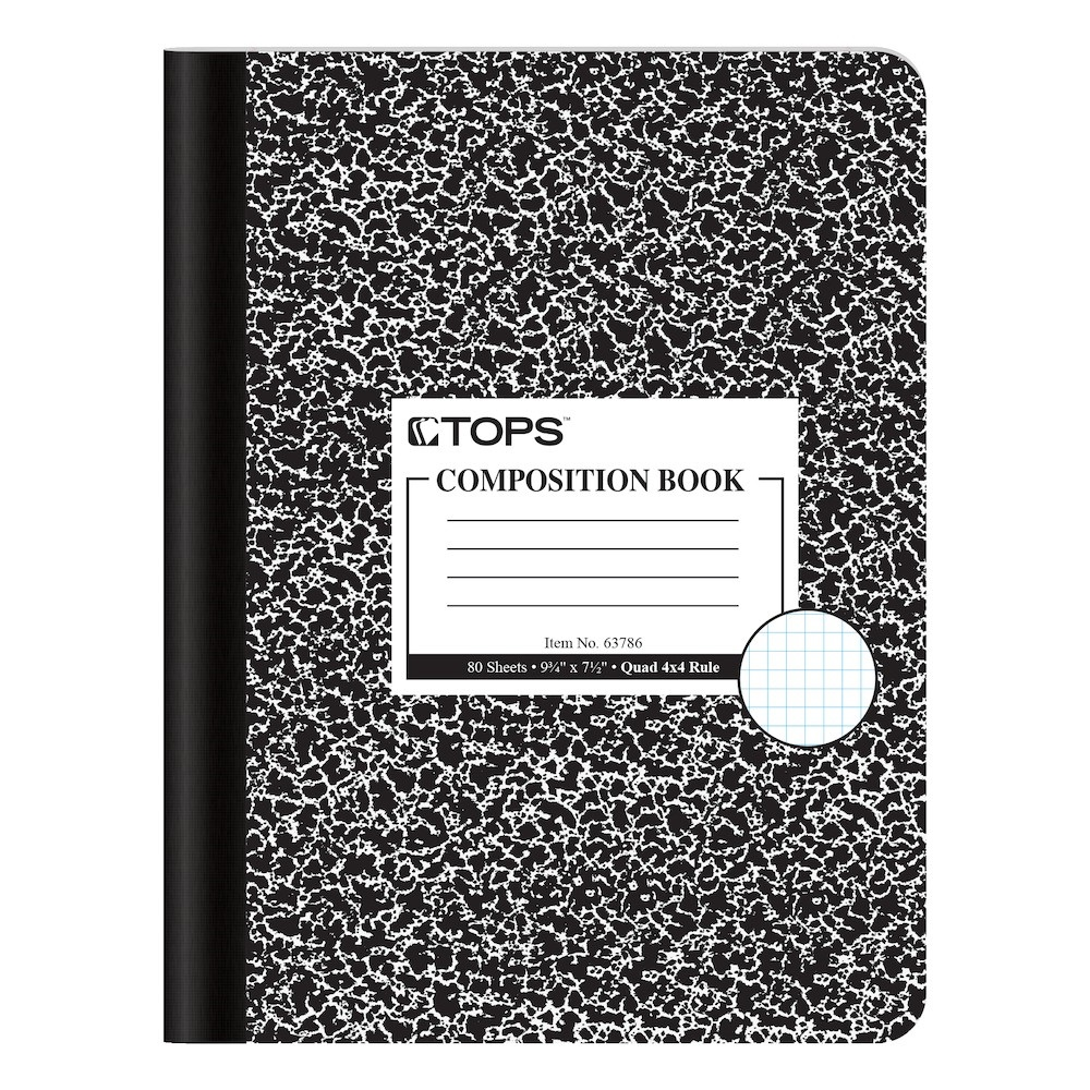 "Image For Tops® Composition Book Graphed 9 1/4"" x 7 1/2"""