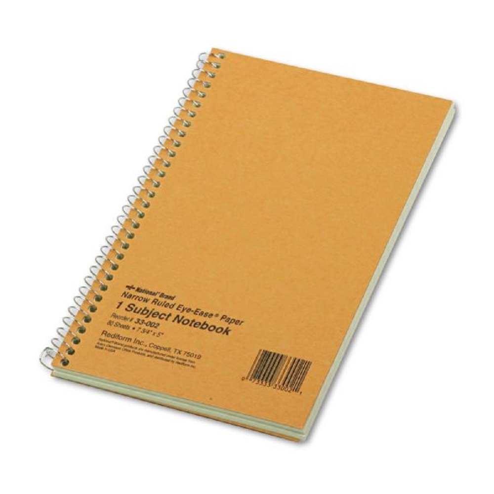 Image For National® Brand Eye Ease 1-Subject Narrow Ruled Notebook