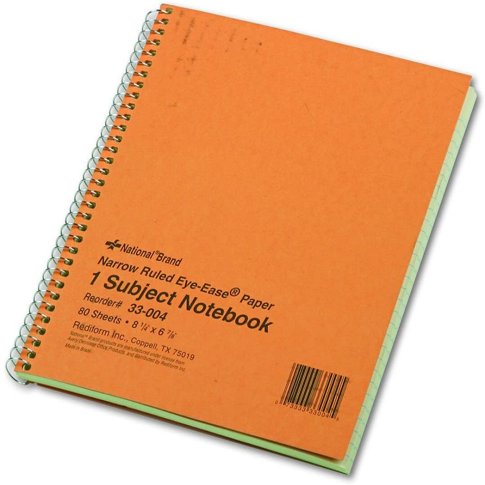 "Image For National® Brand Eye Ease 1-Subject Notebook 8 1/4""x 6 7/8"""