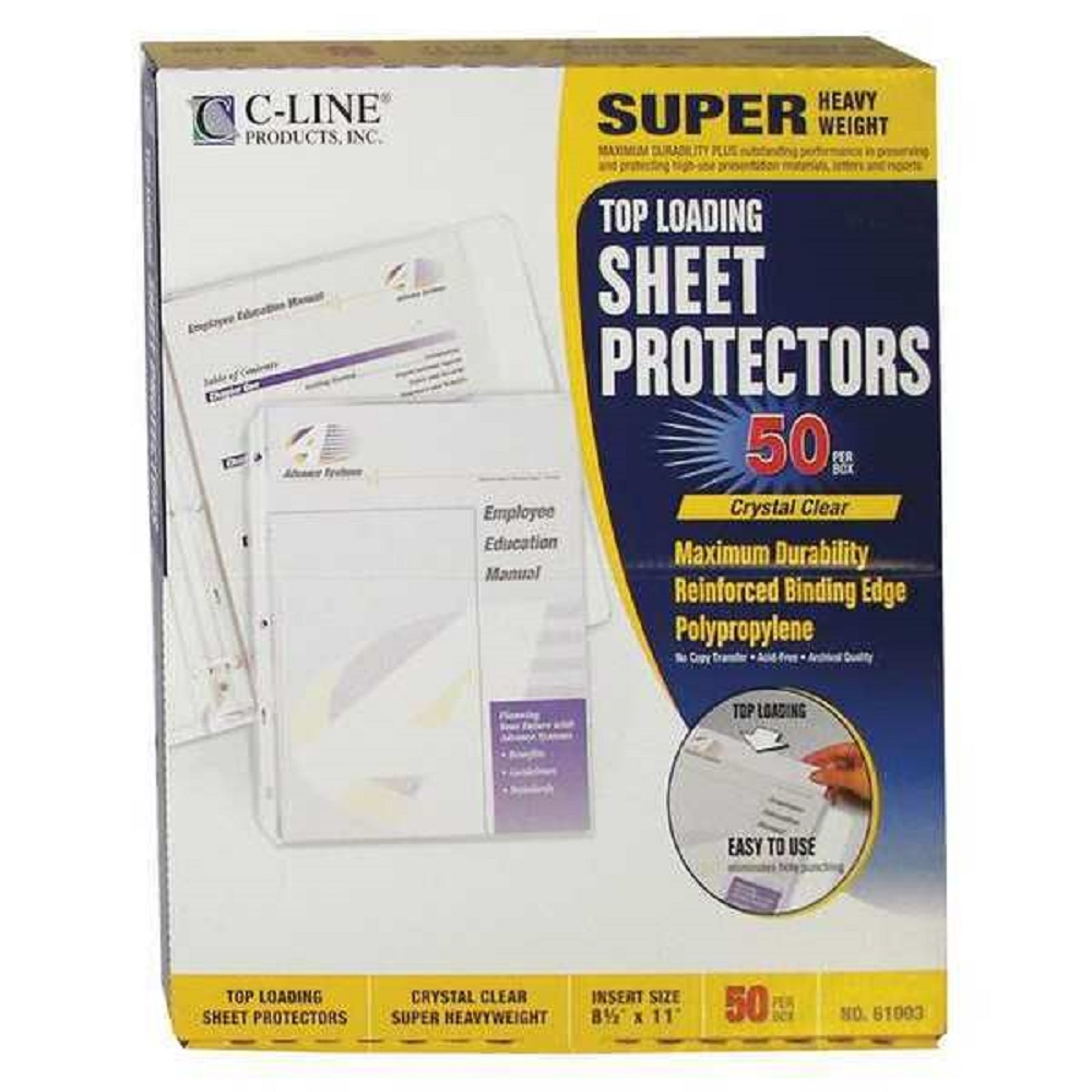 Image For C-Line® Top Loading Sheet Protectors Clear 50 Qty.