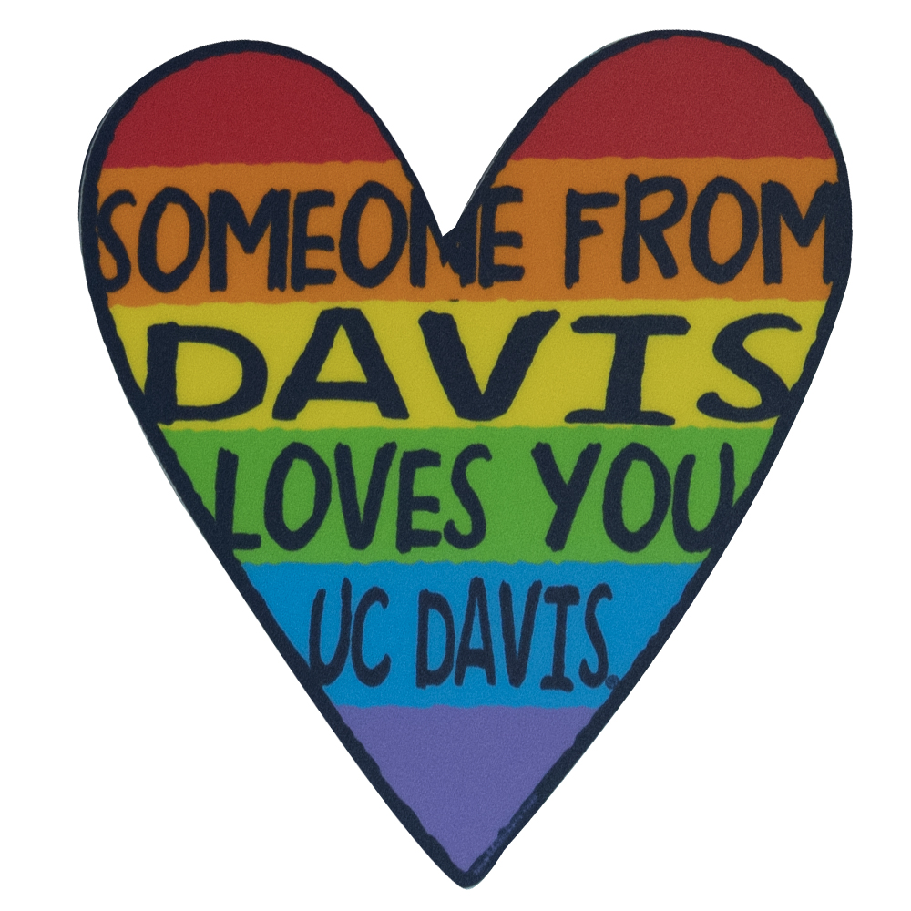 Image For Blue 84 UC Davis Heart Love Vinyl Sticker