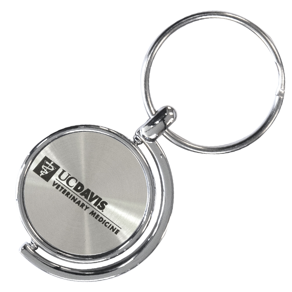 Image For UC Davis School of Veterinary Medicine Key Chain Spinner