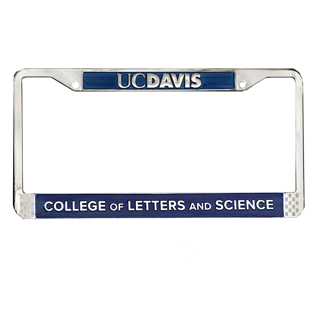 Image For UC Davis College of Letters and Science License Plate Frame