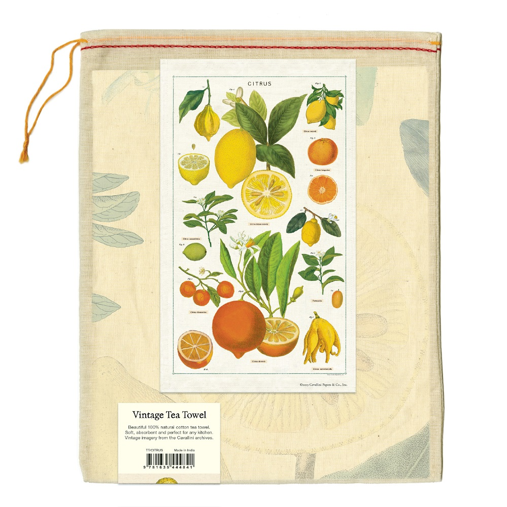 Image For Cavallini & Co. Citrus Vintage Tea Towel