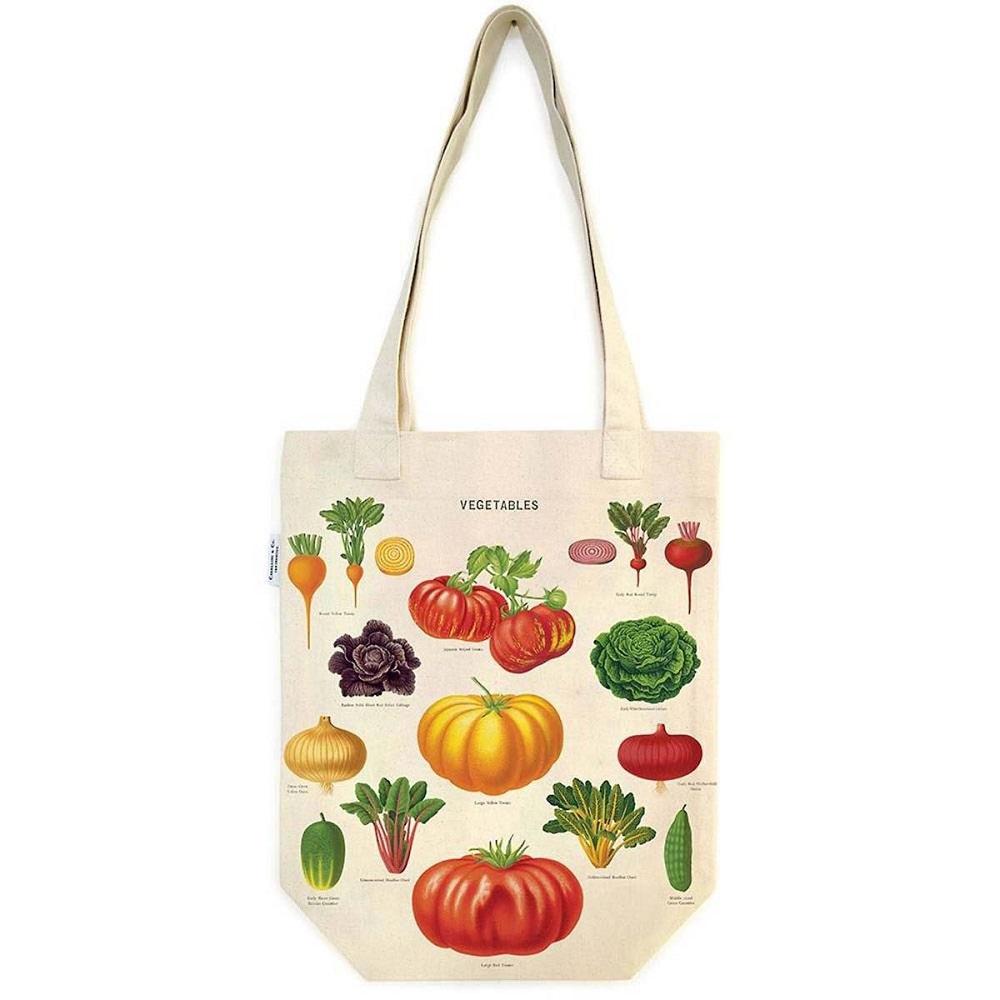 Image For Cavallini & Co. Vegetables Canvas Tote Bag