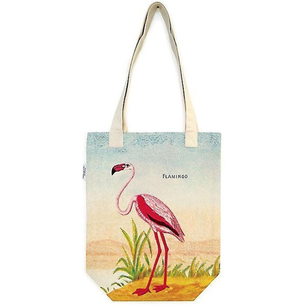 Image For Cavallini & Co. Flamingo Canvas Tote Bag