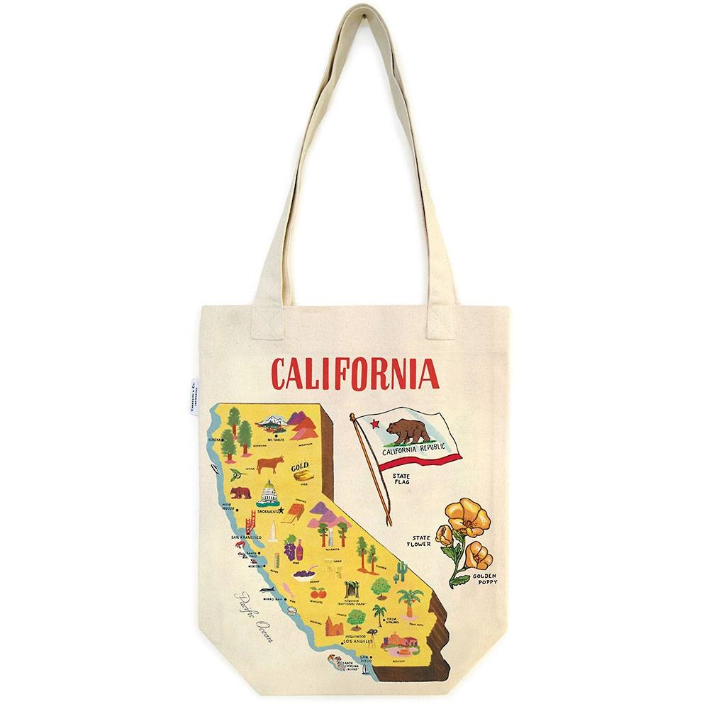 Image For Cavallini & Co. California Canvas Tote Bag