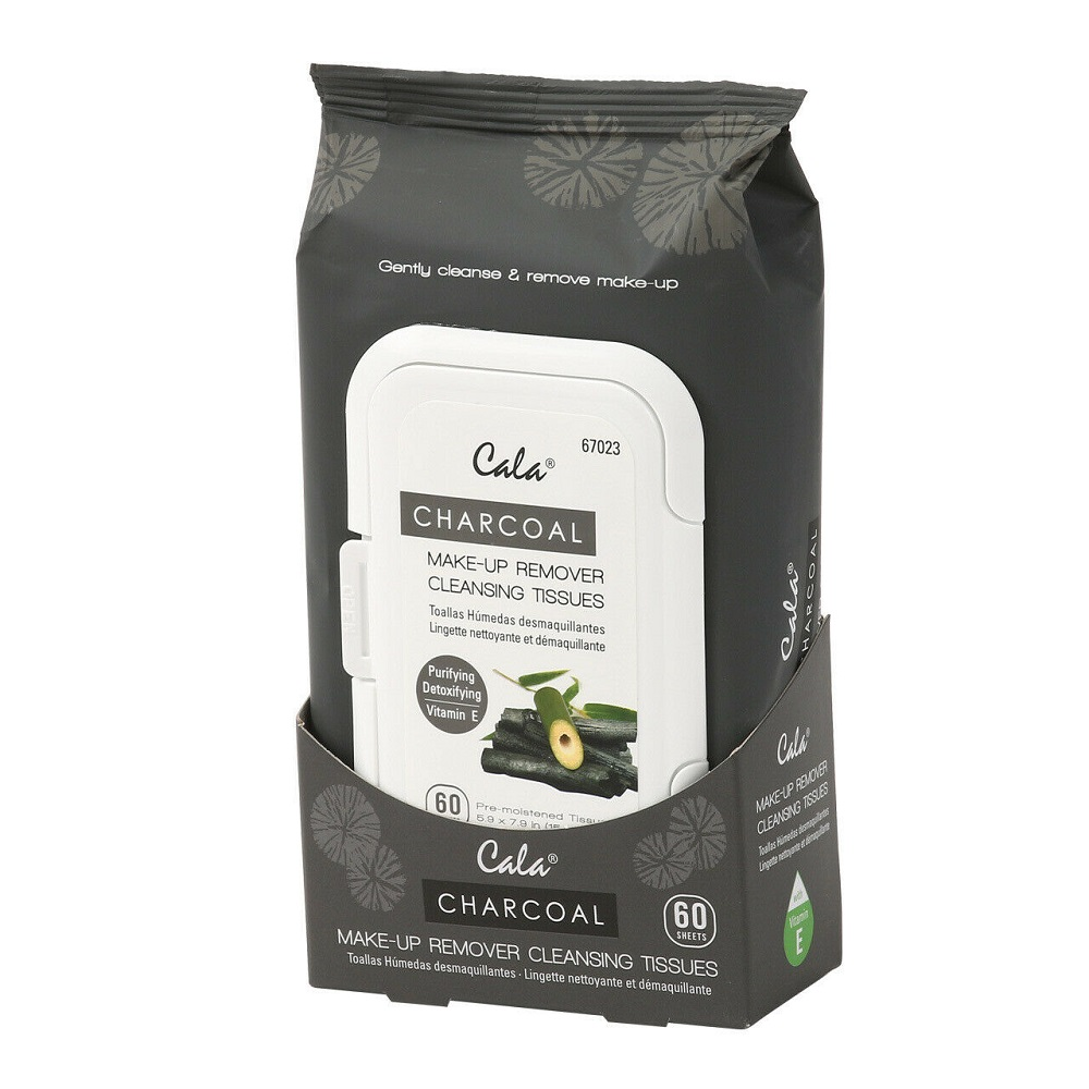 Image For Cala® Charcoal Men Facial Cleansing Tissues