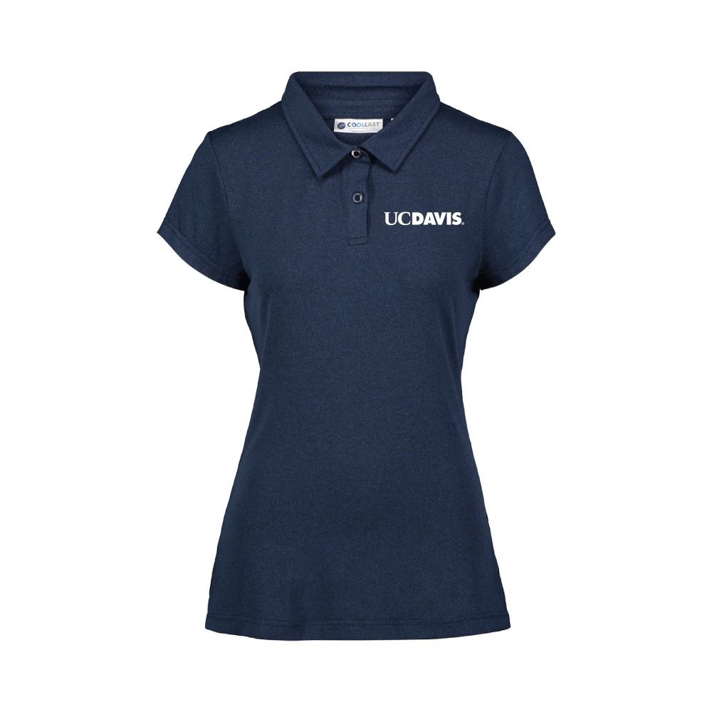 Image For MV® Sport UC Davis Women's CoolLast Polo Navy