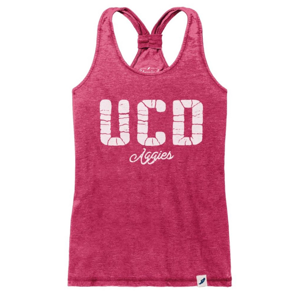 Image For League 91 UCD Aggies Women's Racer Tank Top Orchid