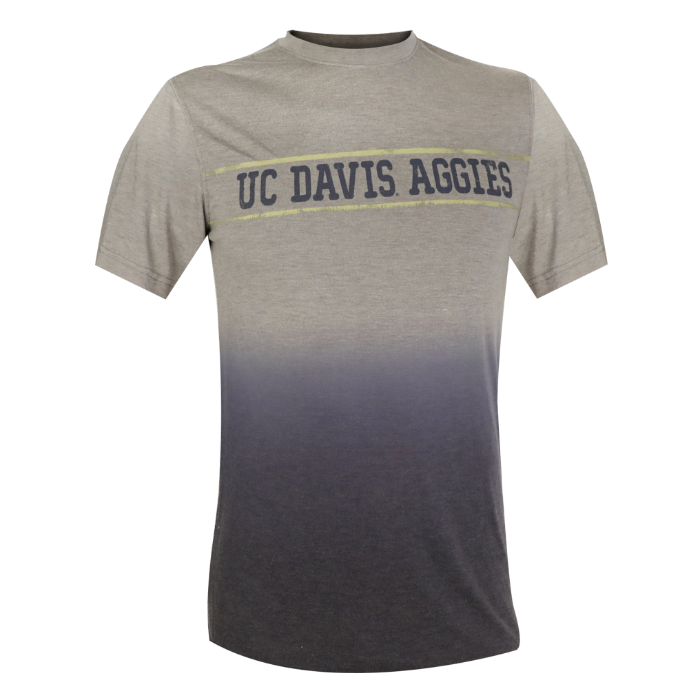Image For Colosseum® UC Davis Aggies T-Shirt Tip Dye Navy