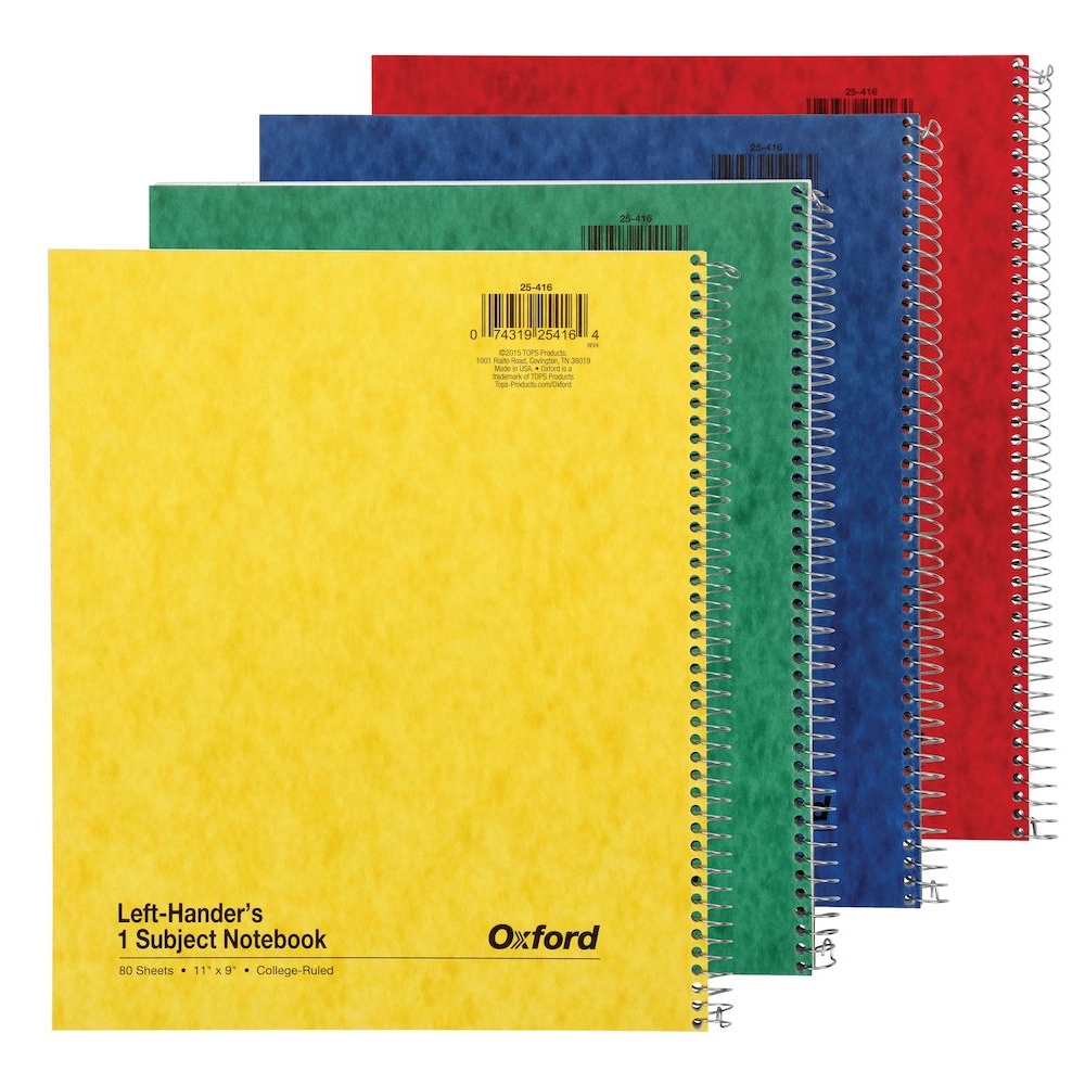 Image For Oxford Left-Handers Notebook