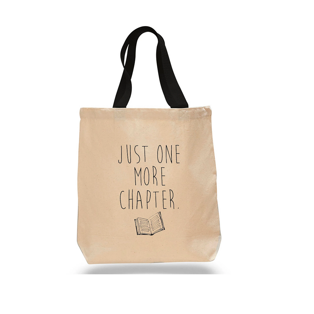 Image For Just One More Chapter Totebag