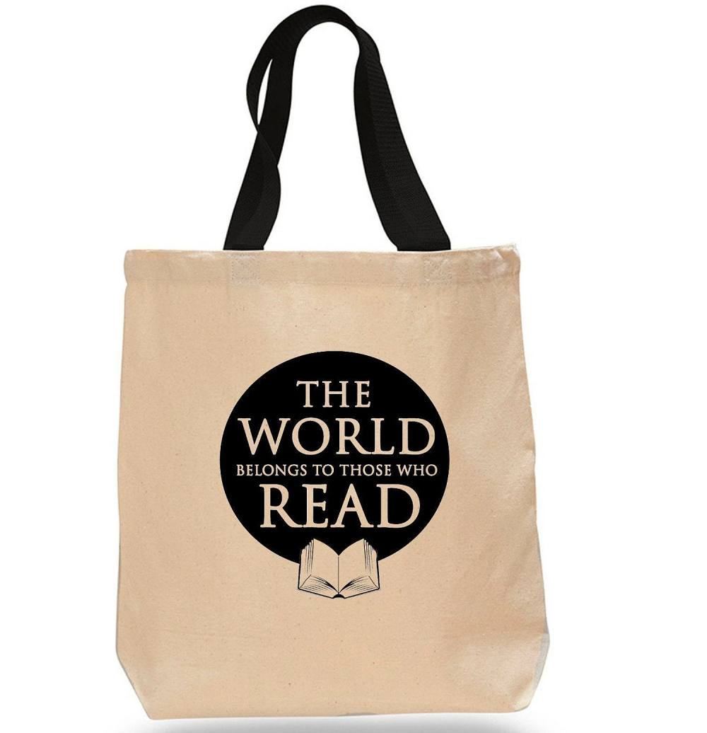 Image For The World Belongs to Those Who Read Tote Bag