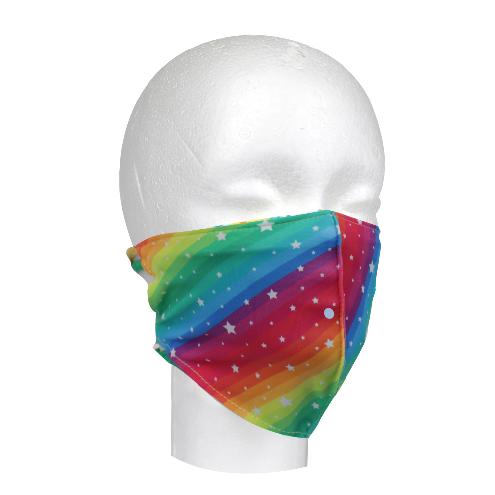 Image For Pomchies Rainbow Star Face Covering