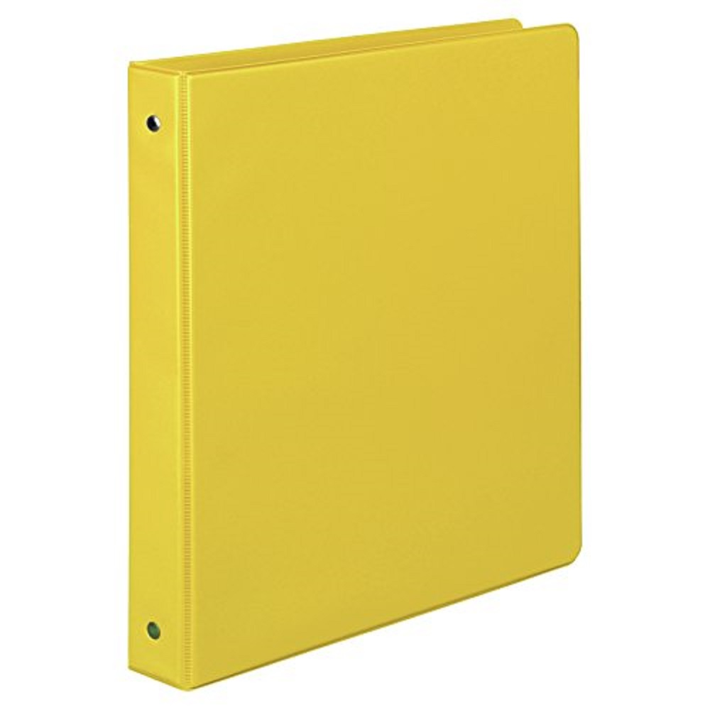 Image For Samsill® Value Round Ring Storage Binder Yellow