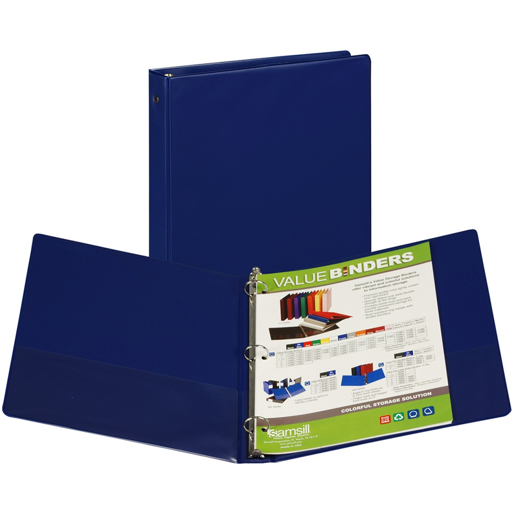 Image For Samsill® Value Round Ring Storage Binder Navy