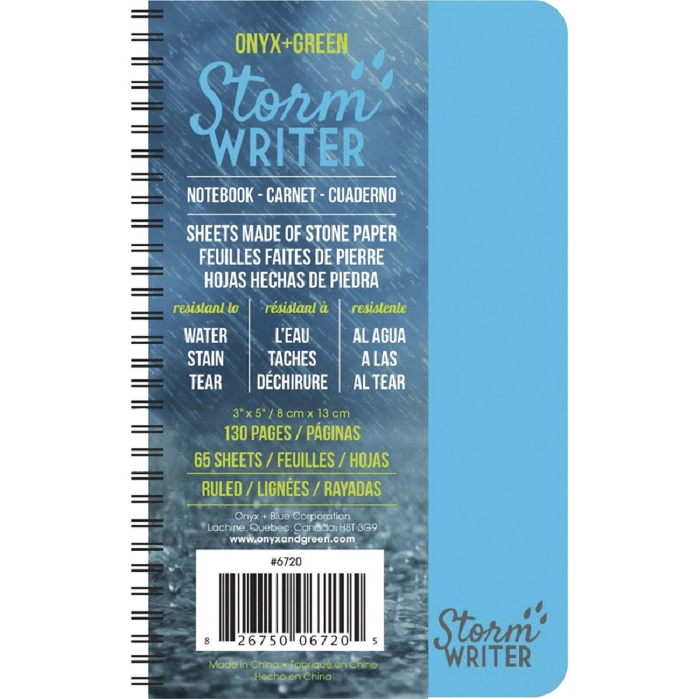 Image For Roaring Spring Onyx and Green Storm Writer Notebook, 3 x 5