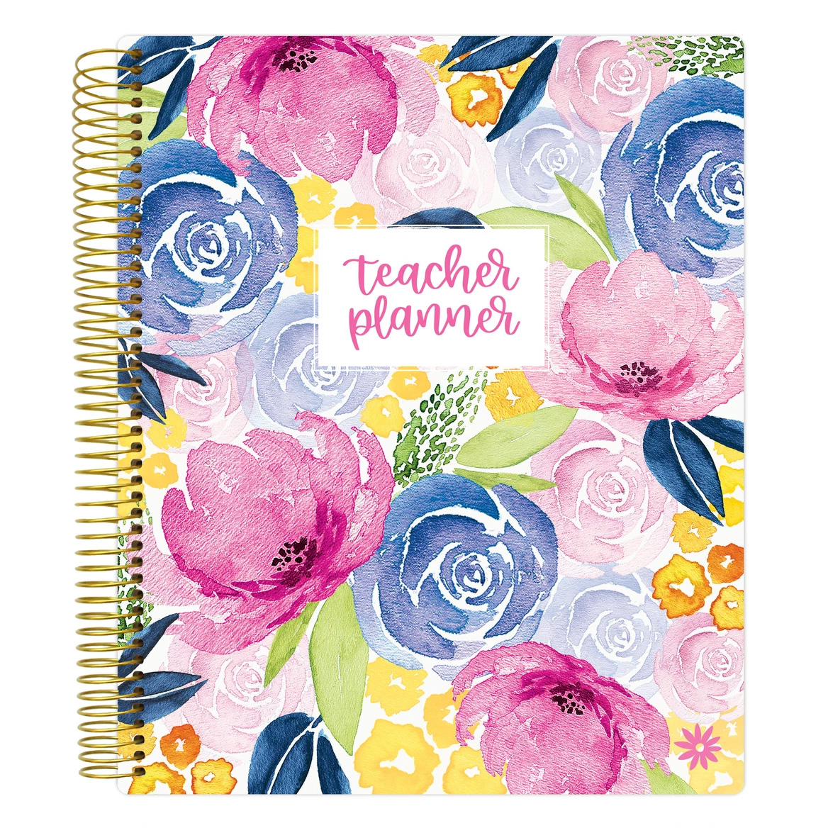 Image For Bloom Teacher Planner Floral Cover